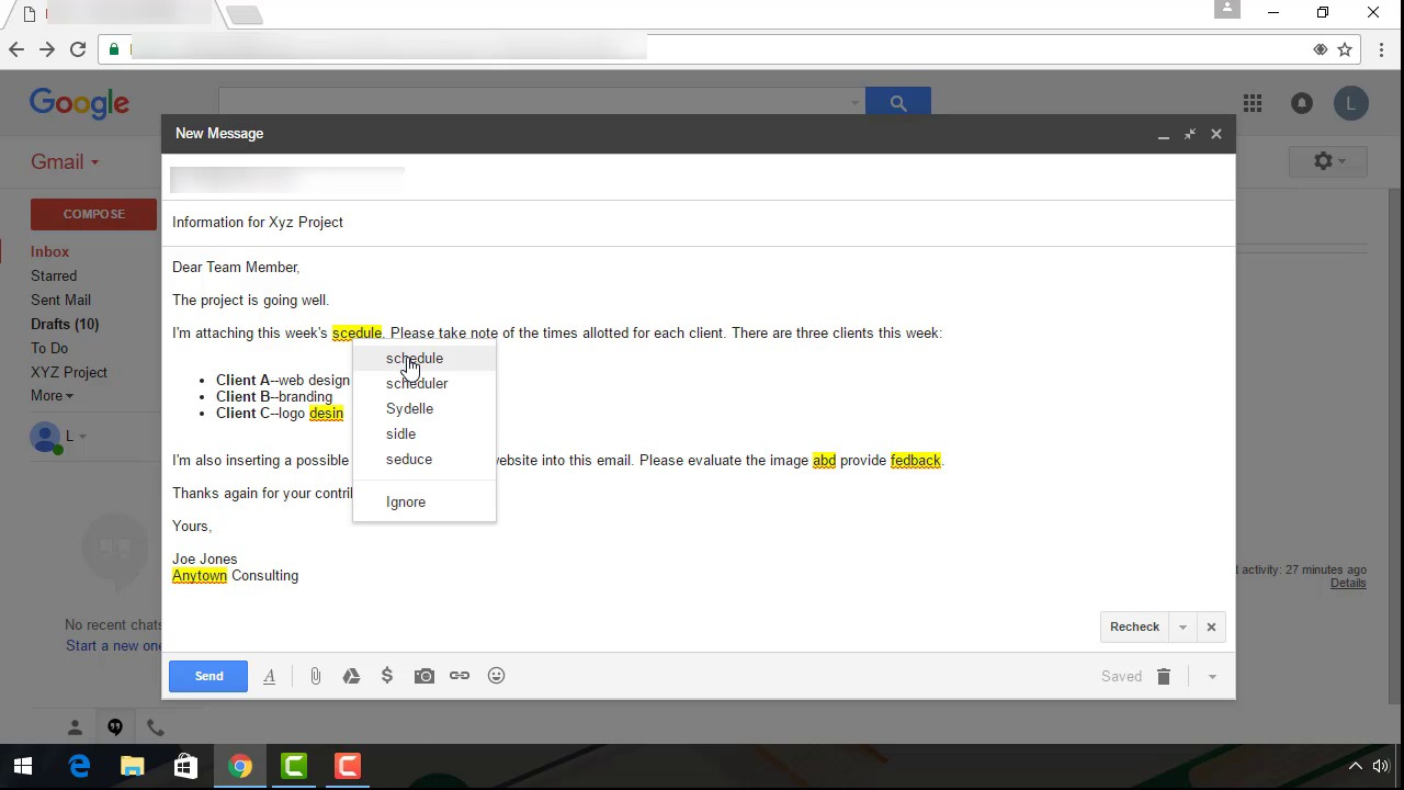 How do i start a new email in gmail