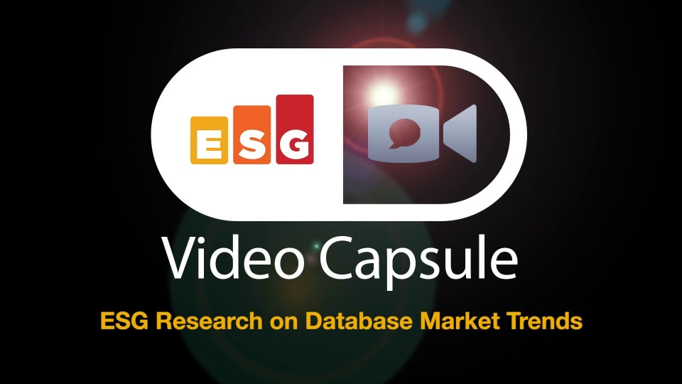 ESG Video Capsule: Upcoming Research on Database Market Trends