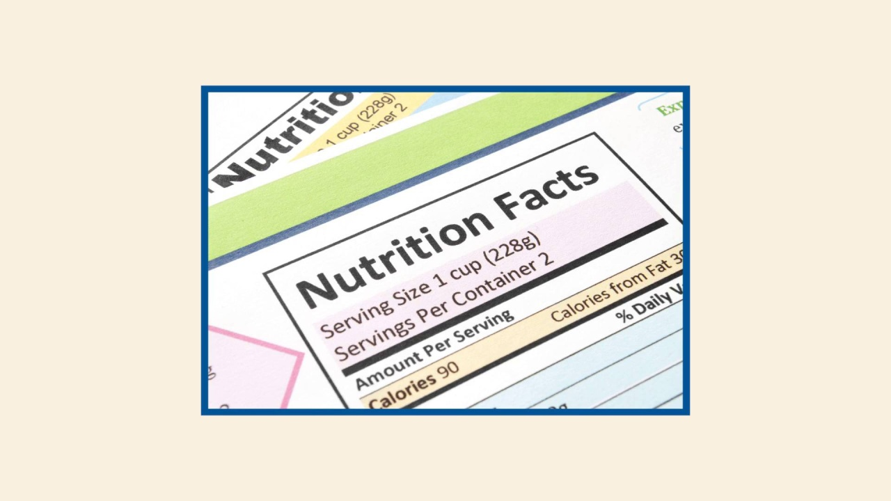 Using nutrition labels to reduce sodium in your diet