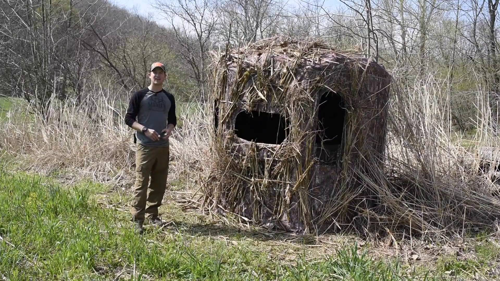 box the blind sale elements stay for and kit clear hunting deer blinds redneck of awning