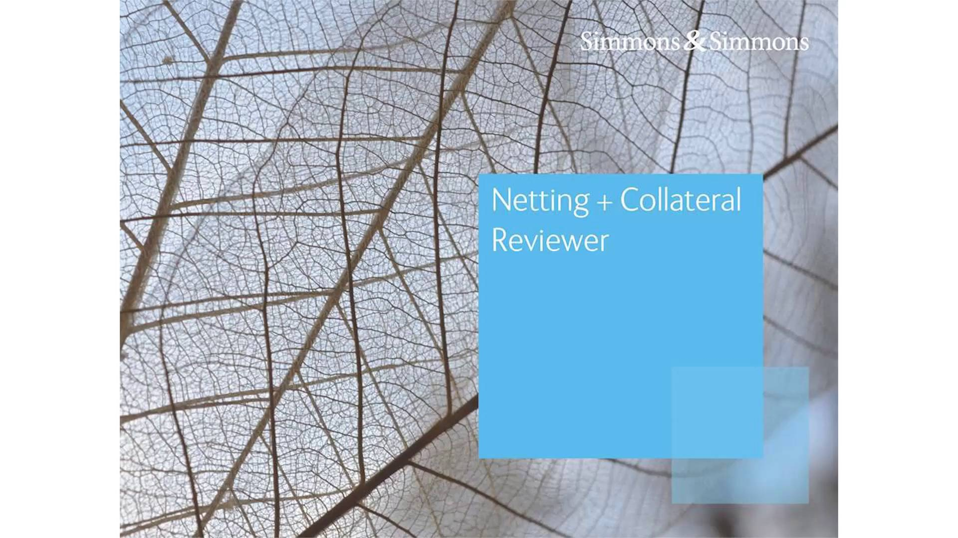 Netting Collateral Reviewer Simmons Simmons