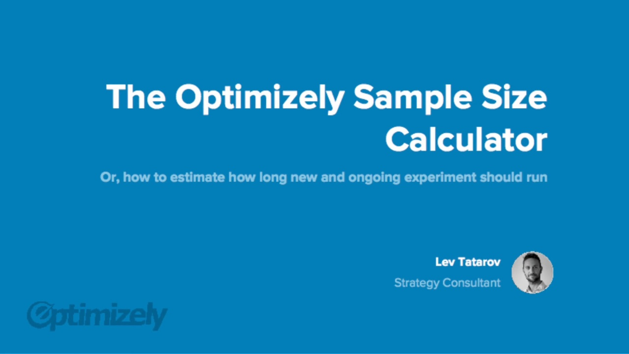 How to use the Optimizely Sample Size Calculator