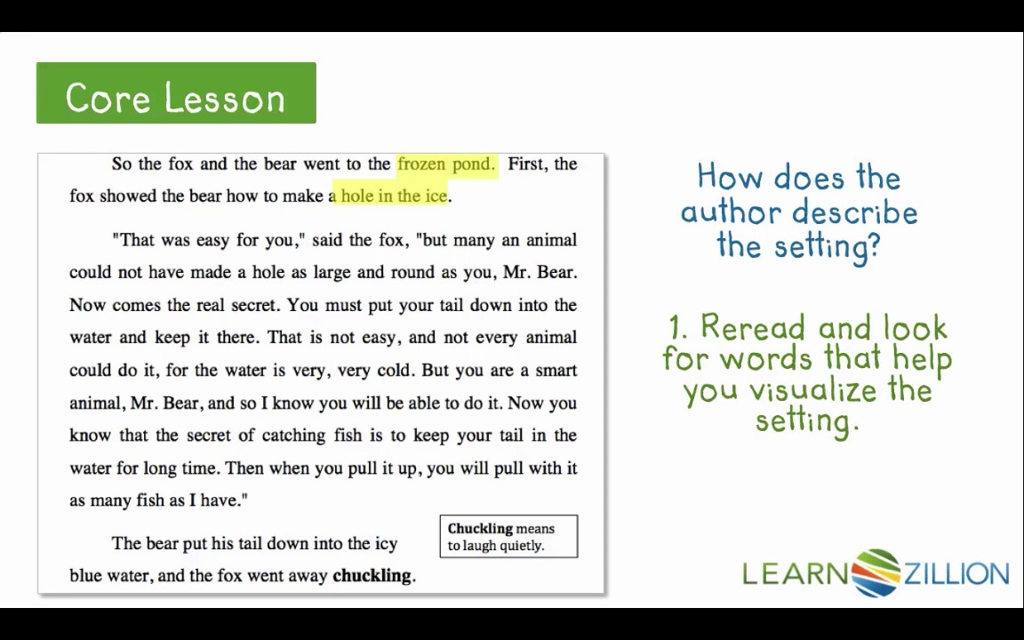Identify The Setting Of A Story By Finding Key Details Learnzillion. Tap For Sound. Worksheet. Tapped Worksheet Answer Key At Mspartners.co