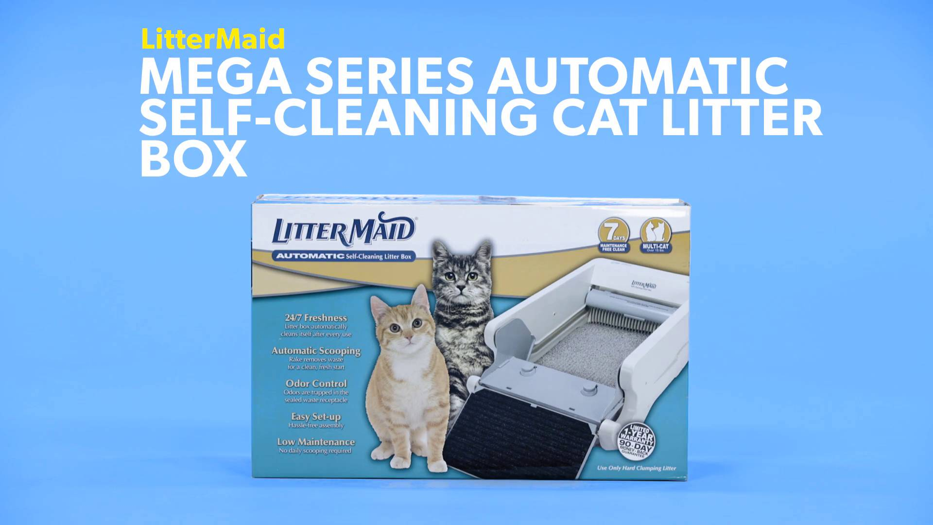 LitterMaid Mega Series Automatic Self-Cleaning Cat Litter Box - Chewy.com  sc 1 st  Chewy.com & LitterMaid Mega Series Automatic Self-Cleaning Cat Litter Box ... Aboutintivar.Com