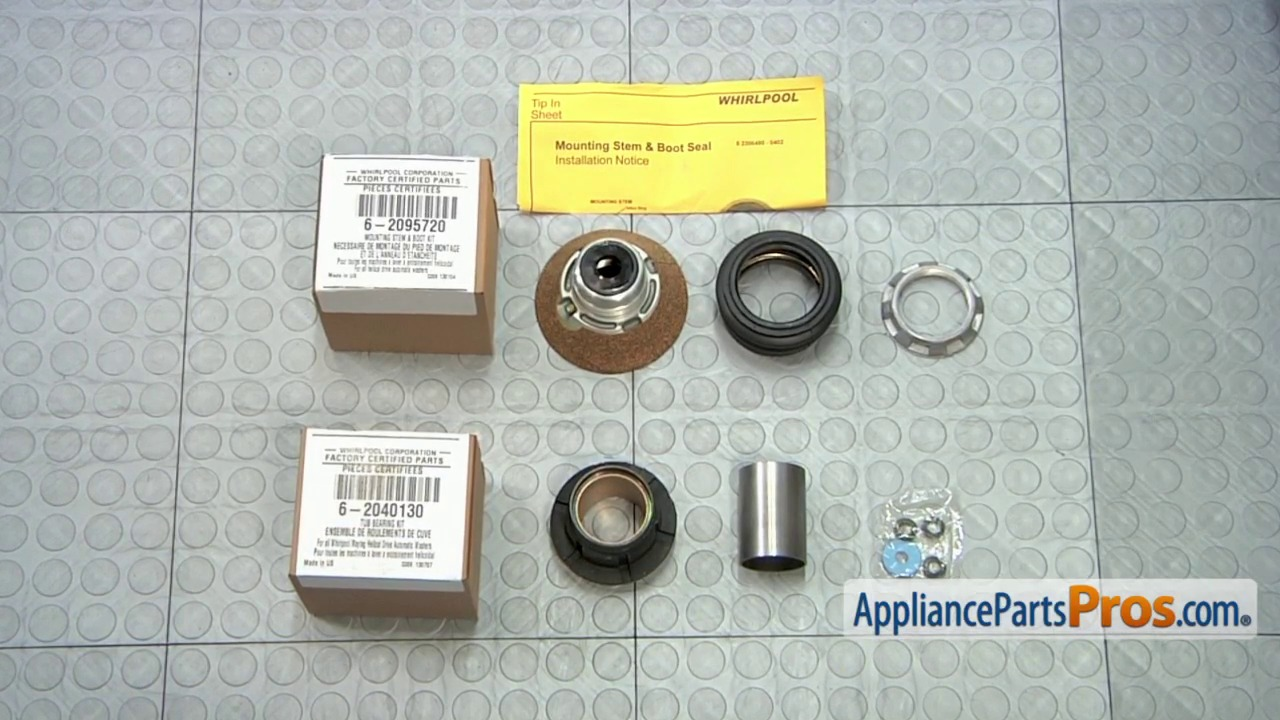 Whirlpool 6 2040130 Tub Bearing Kit Diagrams Repair W10435302 Should Work For Your Washer