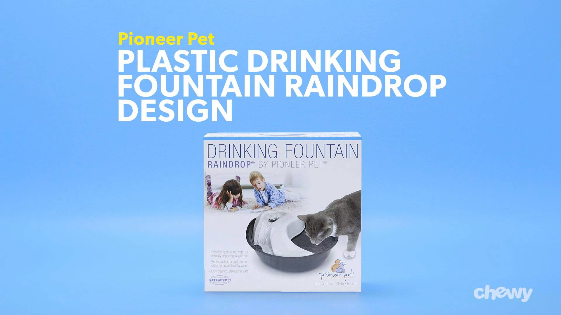 Pioneer Pet Plastic Drinking Fountain Raindrop Design Chewycom
