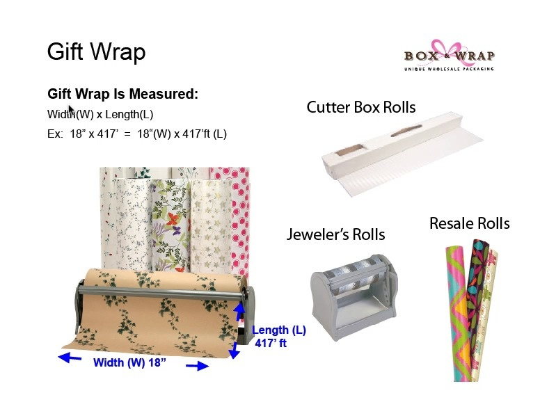 Measuring Guide Gift Wrapping Paper Box And Wrap