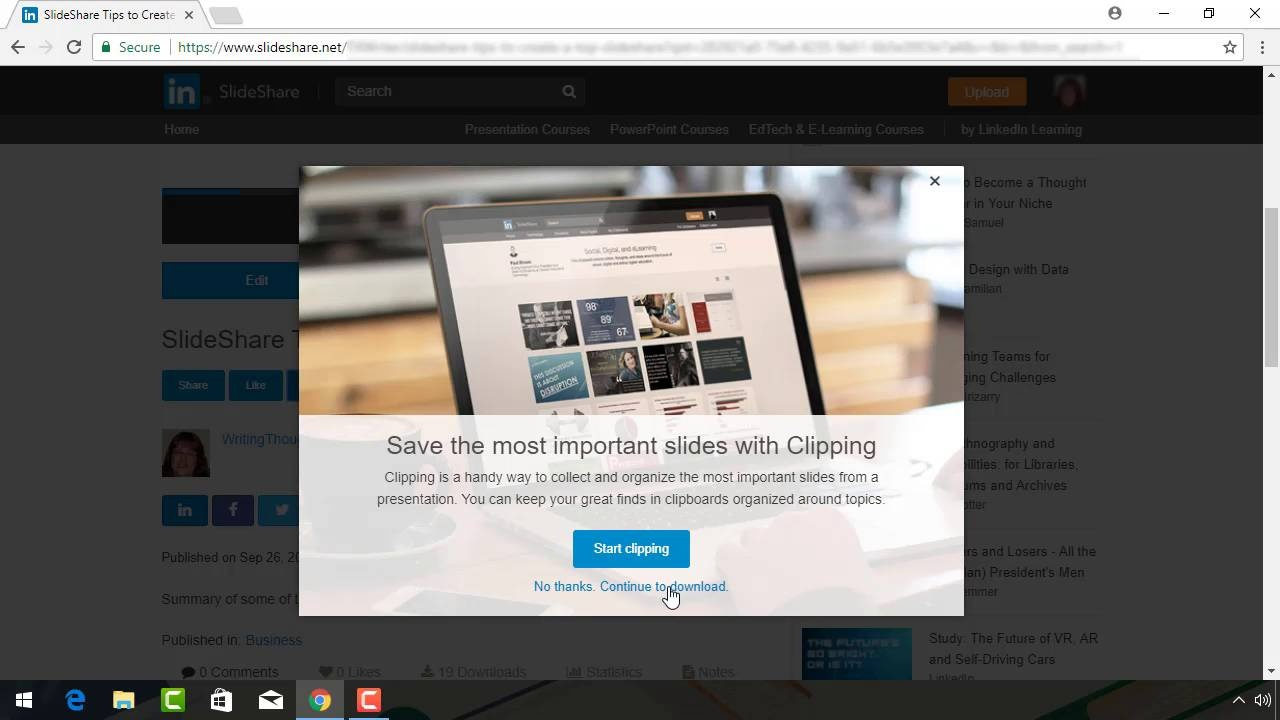 How to Download a Presentation File From SlideShare