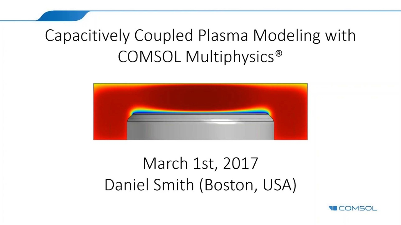 Modeling Capacitively Coupled Plasma with the COMSOL® Software