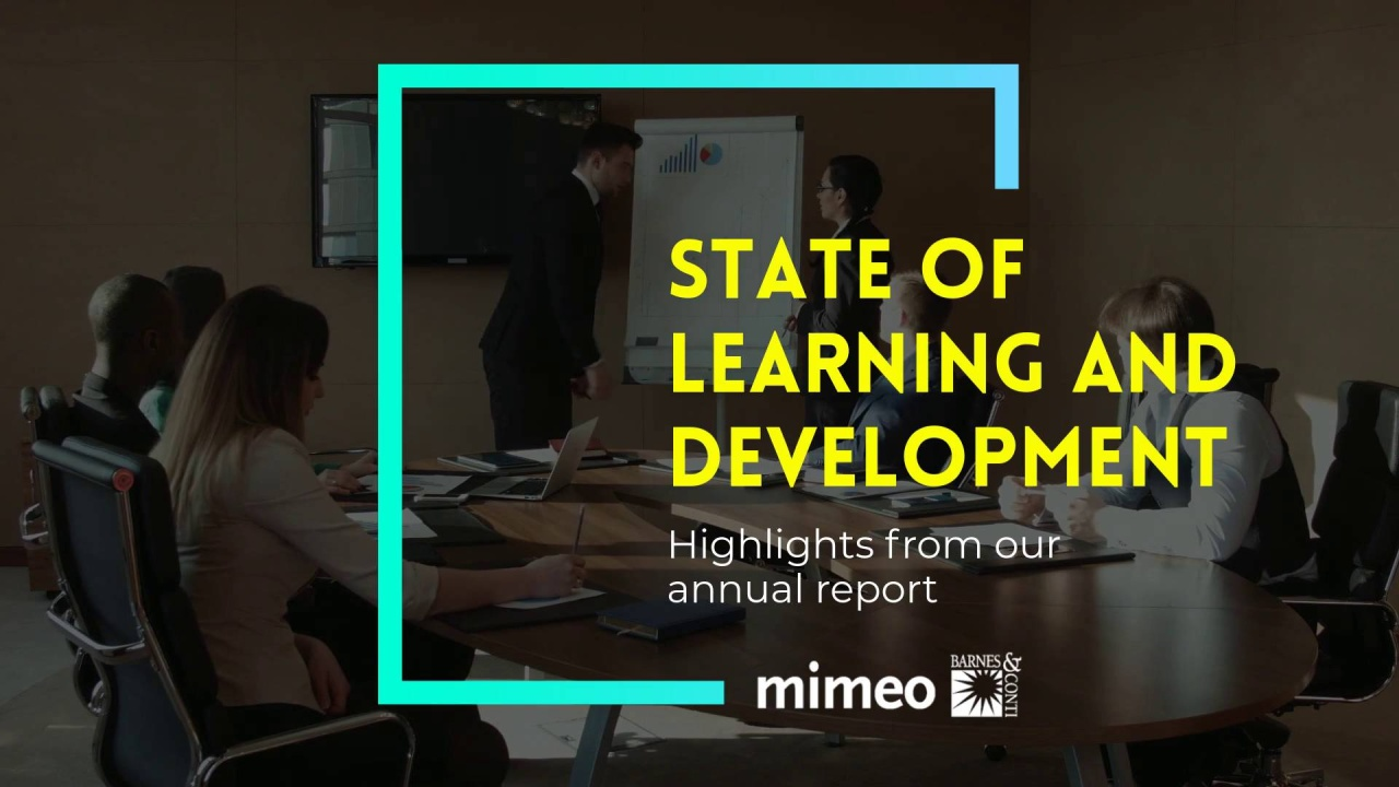 New Report State Of Learning >> Ebook The State Of Learning And Development Report 2018