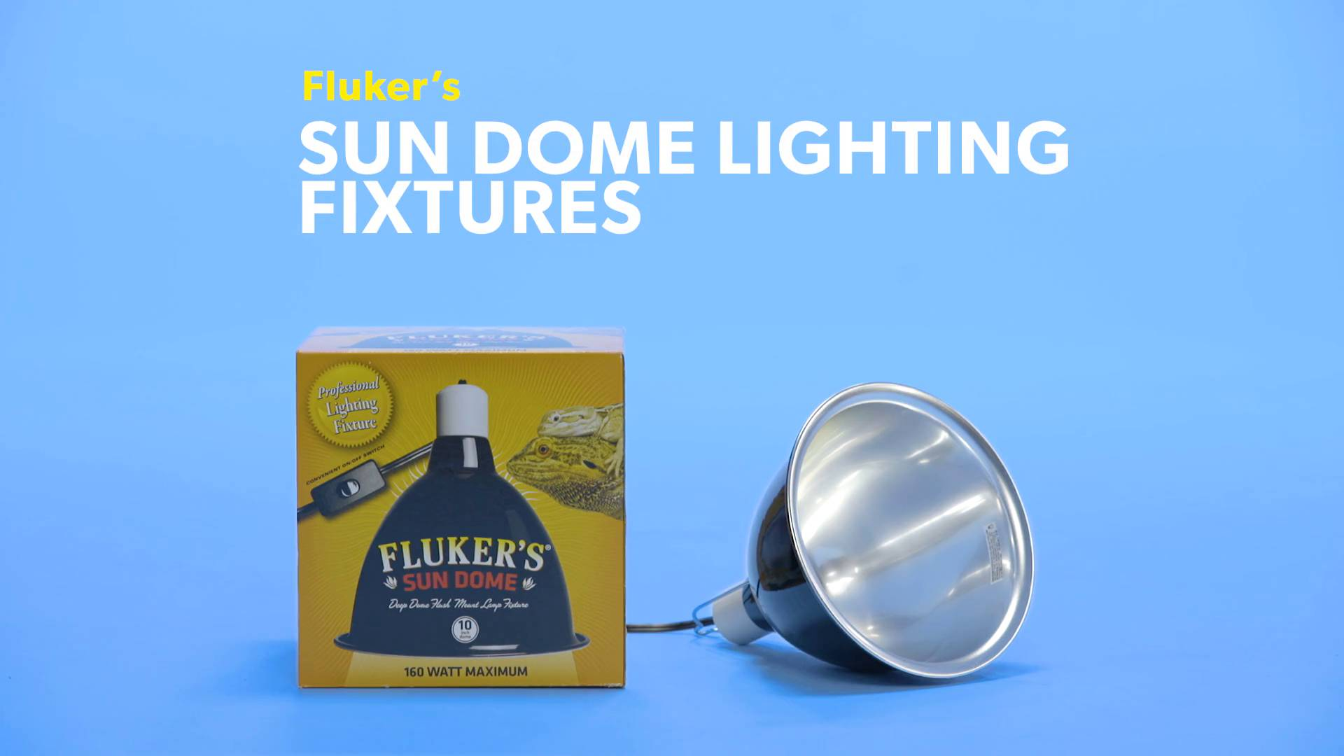 fluker s mini sun dome lighting fixture 10 in chewy com