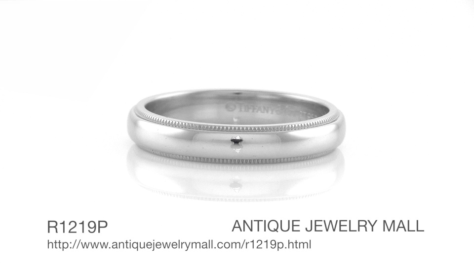 1e4181f74 Tiffany & Co Milgrain Wedding Band in Platinum 4mm Wide in Ring Size 8.5.  Video Thumbnail