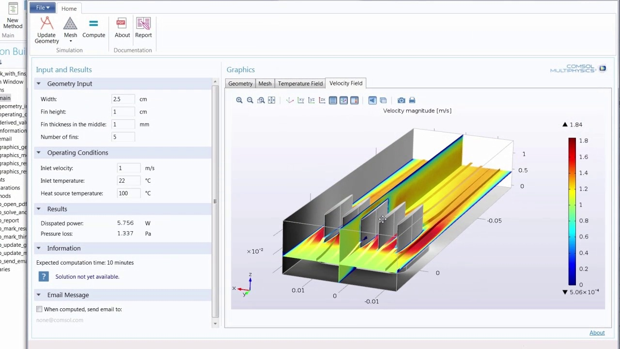 Model_Demo_Introducing the Application Builder in COMSOL Multiphysics