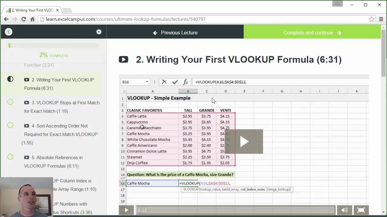 Preview of the Ultimate Lookup Formulas Course