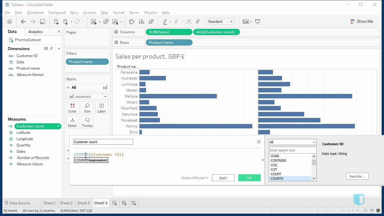 Count and Count Distinct | Online Tableau Training | Kubicle