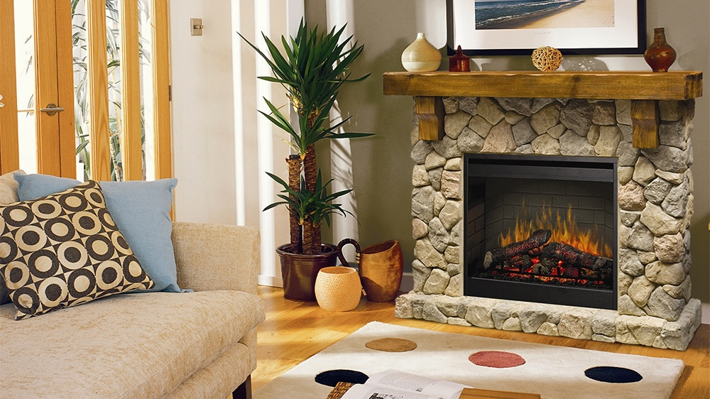 Enjoyable Dimplex Fieldstone Electric Fireplace Home Interior And Landscaping Ologienasavecom