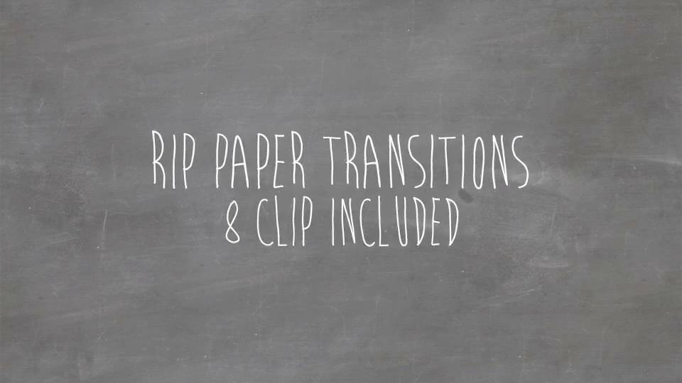 Tear paper transitions