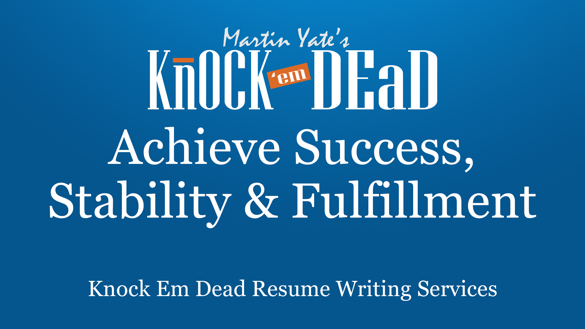 knock em dead resume writing career coaching services