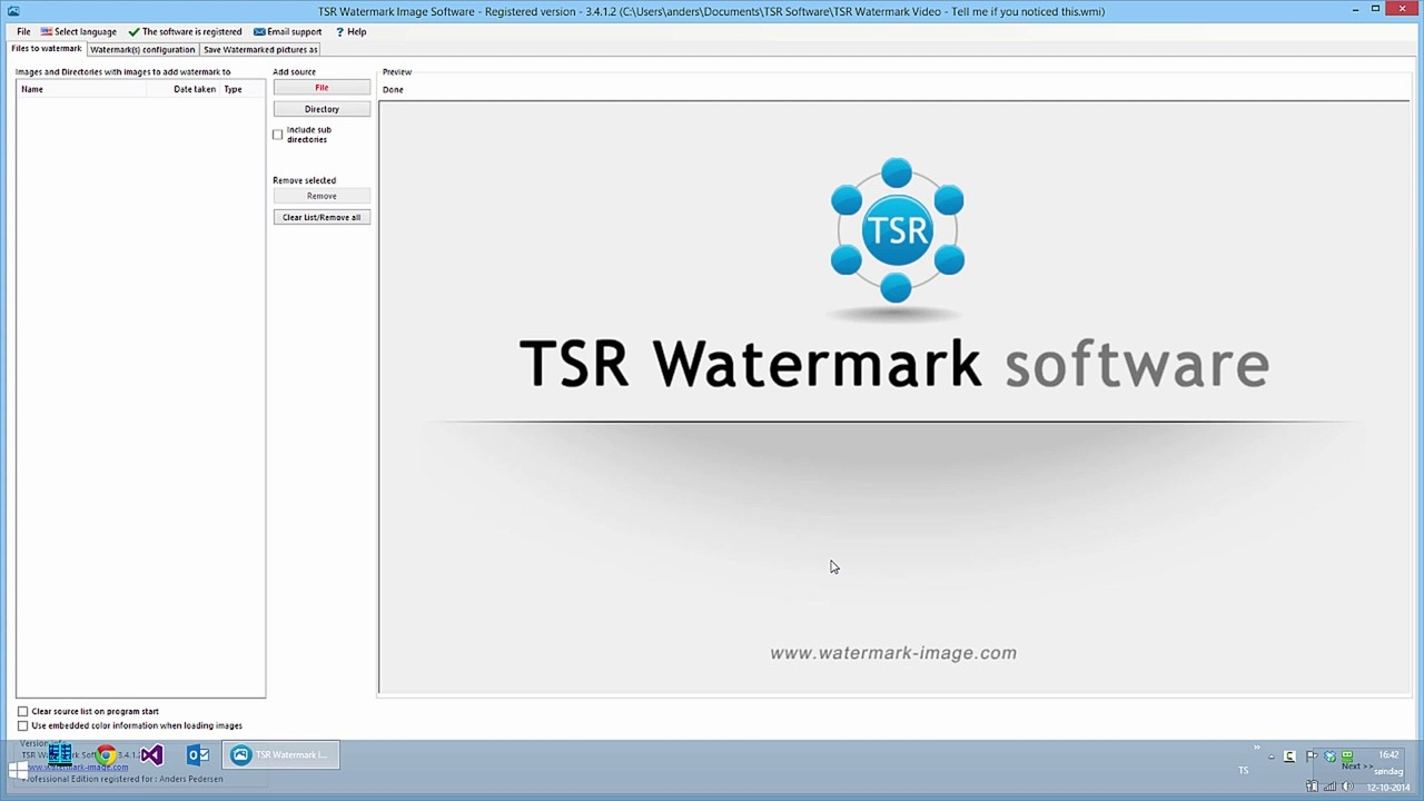 Creating your first watermark
