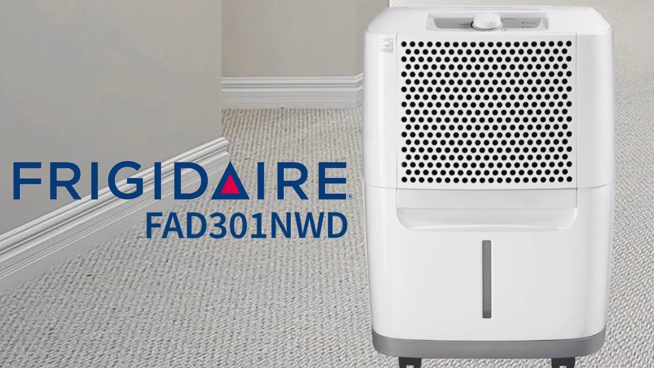 Wistia video thumbnail - Frigidaire 30-Pint Dehumidifier