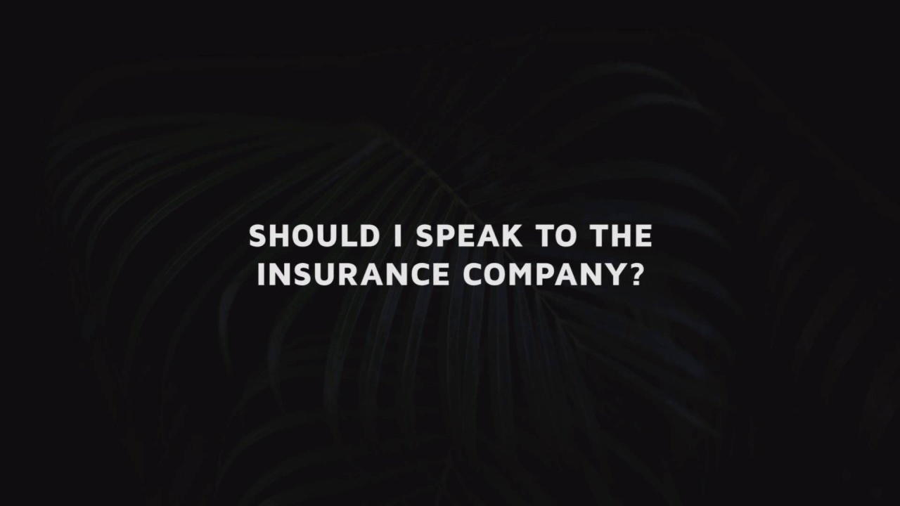 Dealing With Insurance Companies