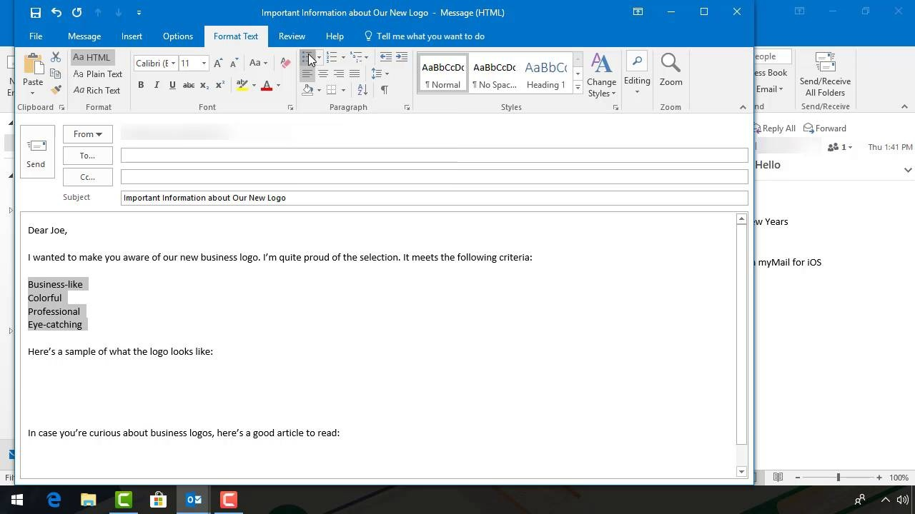 How To Compose Send New Emails With Microsoft Outlook