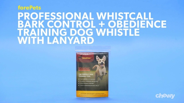 forePets Professional WhistCall Bark Control & Obedience Training Dog  Whistle with Lanyard, Red