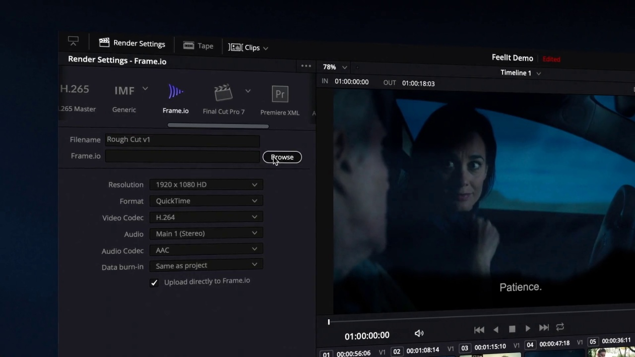9a4569ed64b Not Just an Integration  Introducing Frame.io in DaVinci Resolve 16