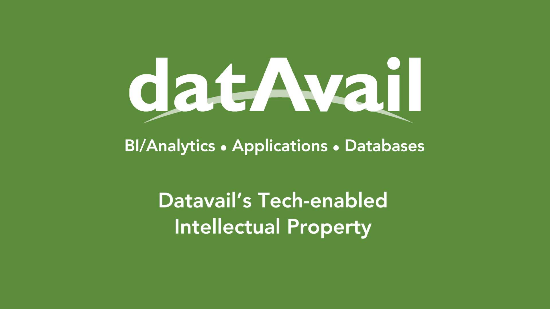 Datavail's Tech-enabled Intellectual Property | Datavail