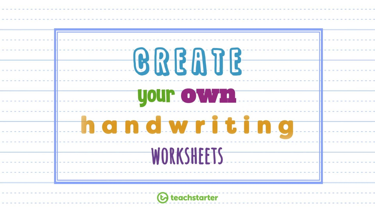 Worksheets Create A Handwriting Worksheet create your own handwriting sheets easily generator video thumbnail