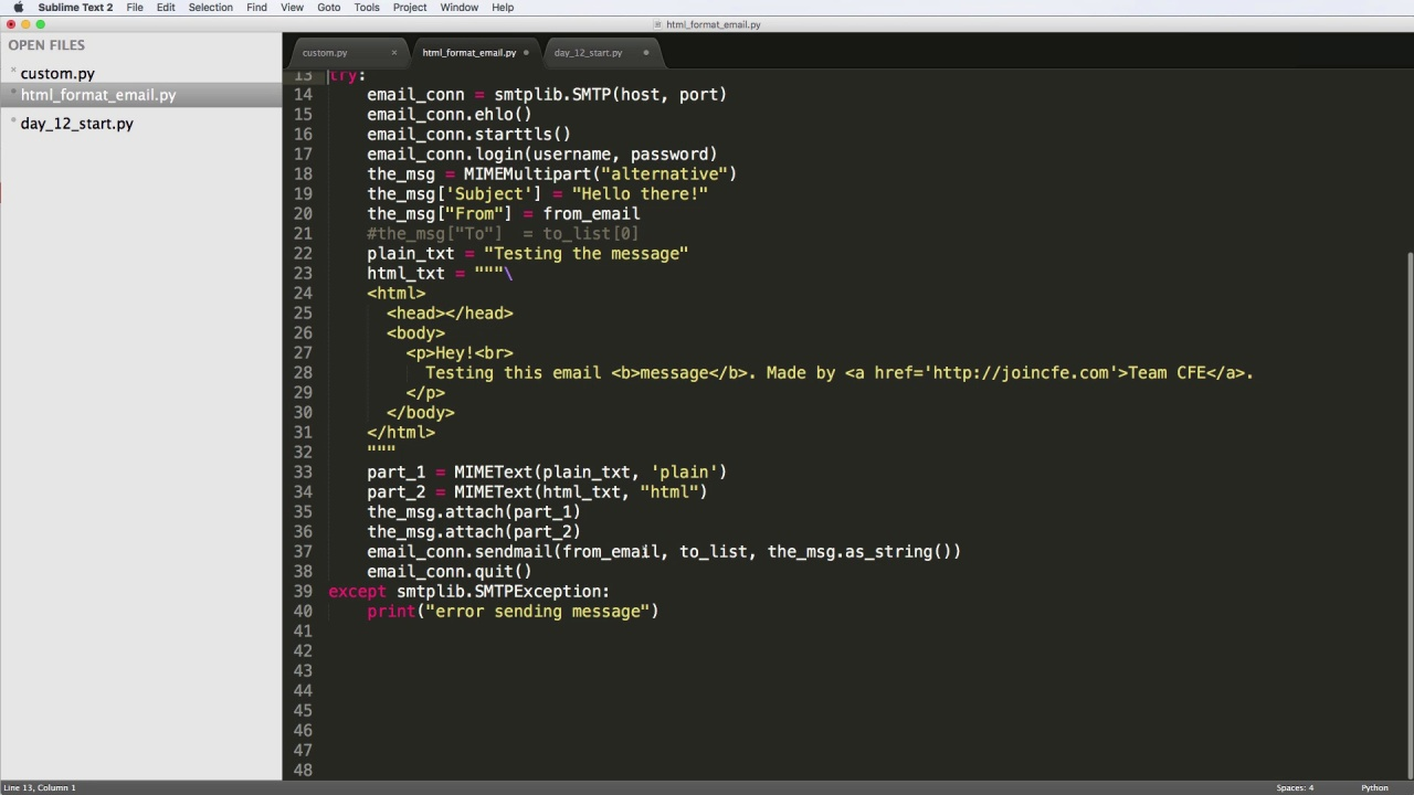 Day 12 - Send Formatted Emails to a Set of Users with Python