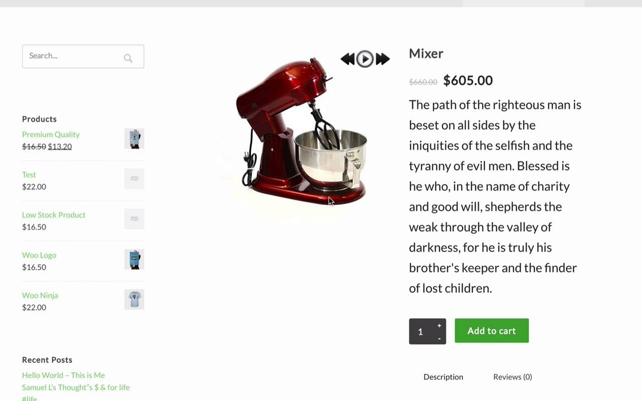 WooCommerce 360º Image creates an all-round view of products to enable customers to choose the right one for them