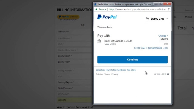Wistia video thumbnail - PayPal Integration Customer Walkthrough