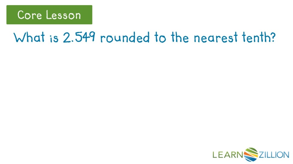 round decimals to the nearest tenth learnzillion