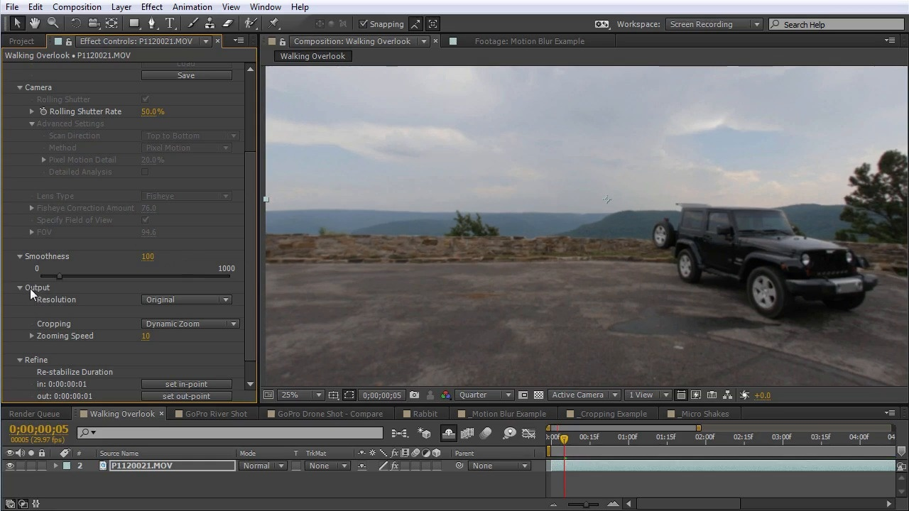 How To Stabilize Footage In After Effects With Reelsteady