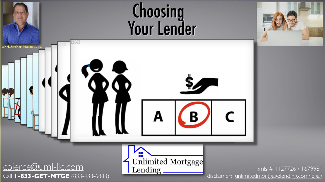 How Do I Choose The Right Lender For Me? Unlimited Mortgage Lending