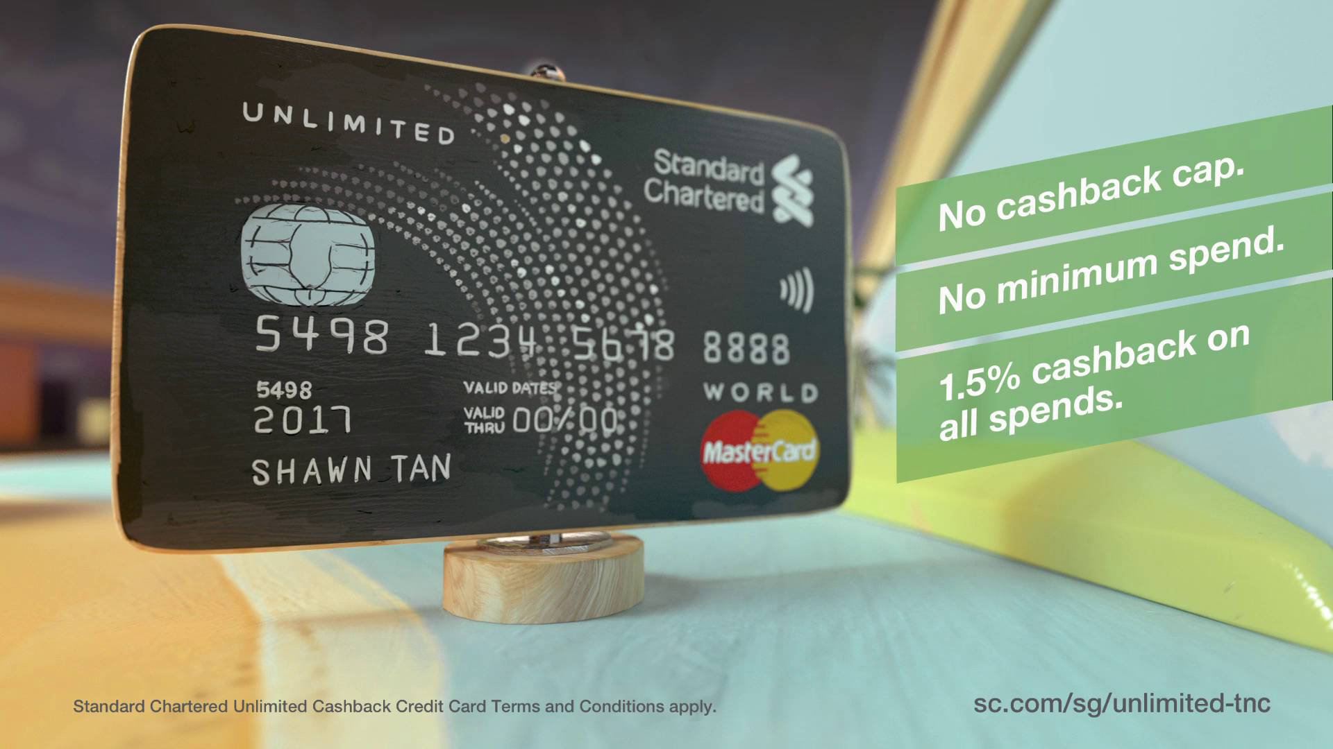 unlimited cashback credit card standard chartered singapore