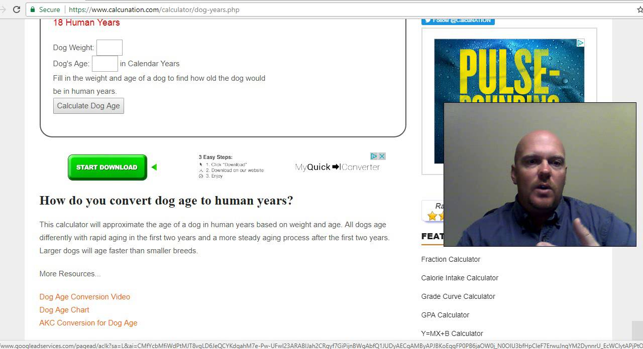 Dog years calculator calcunation nvjuhfo Image collections
