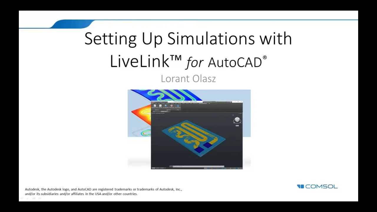 Setting Up Simulations with LiveLink™ for AutoCAD®