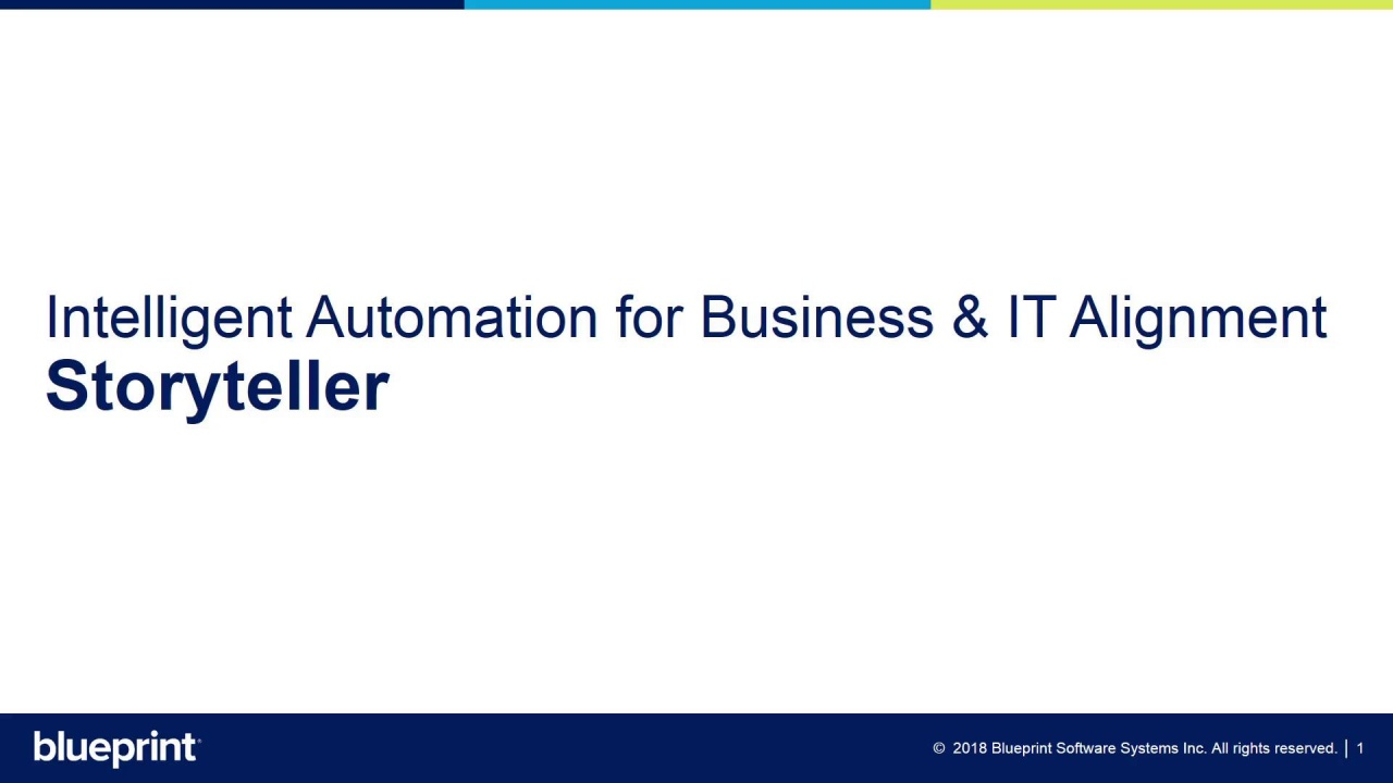 Automate business it alignment with storyteller video thumbnail malvernweather Choice Image