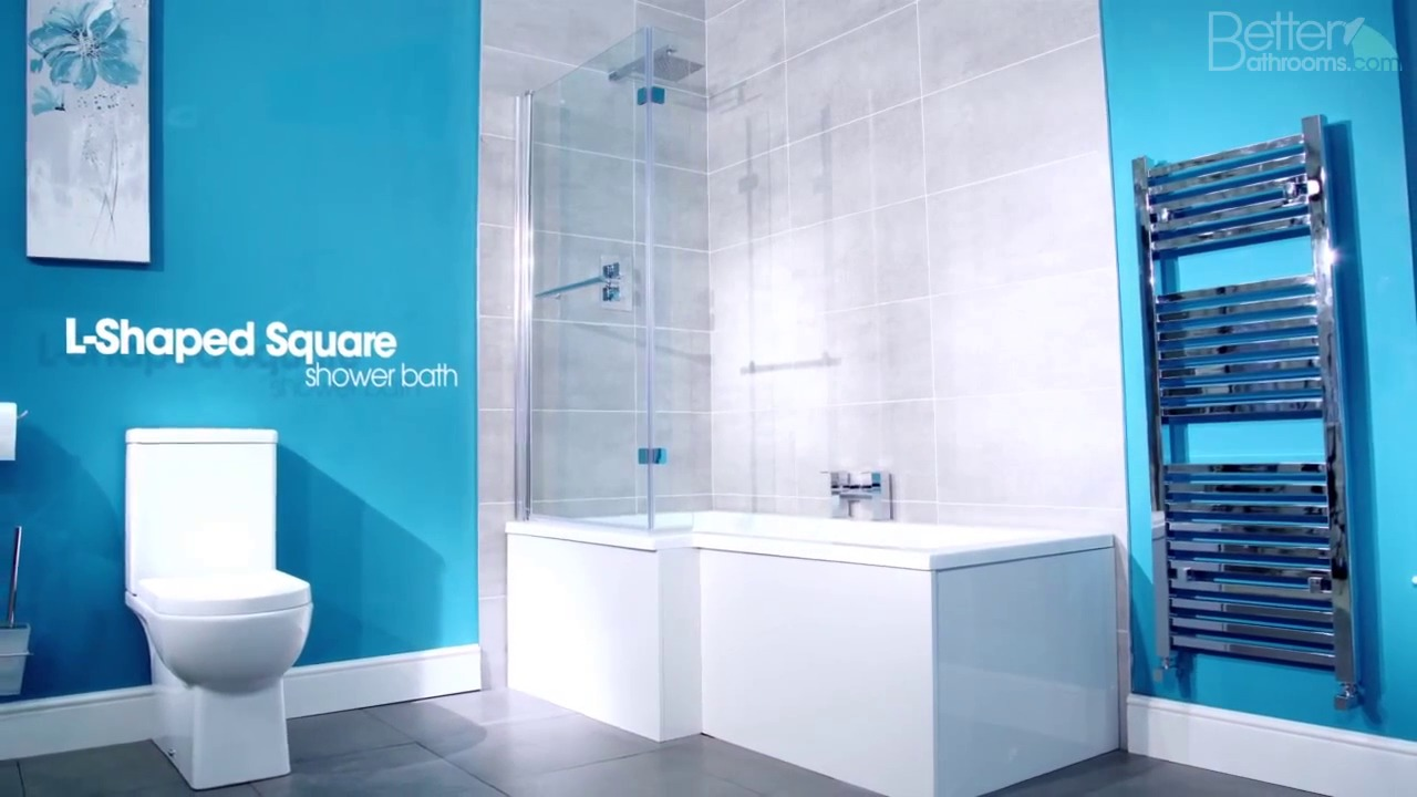 Salou Right Hand Square Shower Bath Suite
