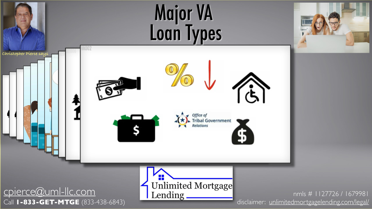 What Are The Major Types Of VA Loans? Unlimited Mortgage Lending