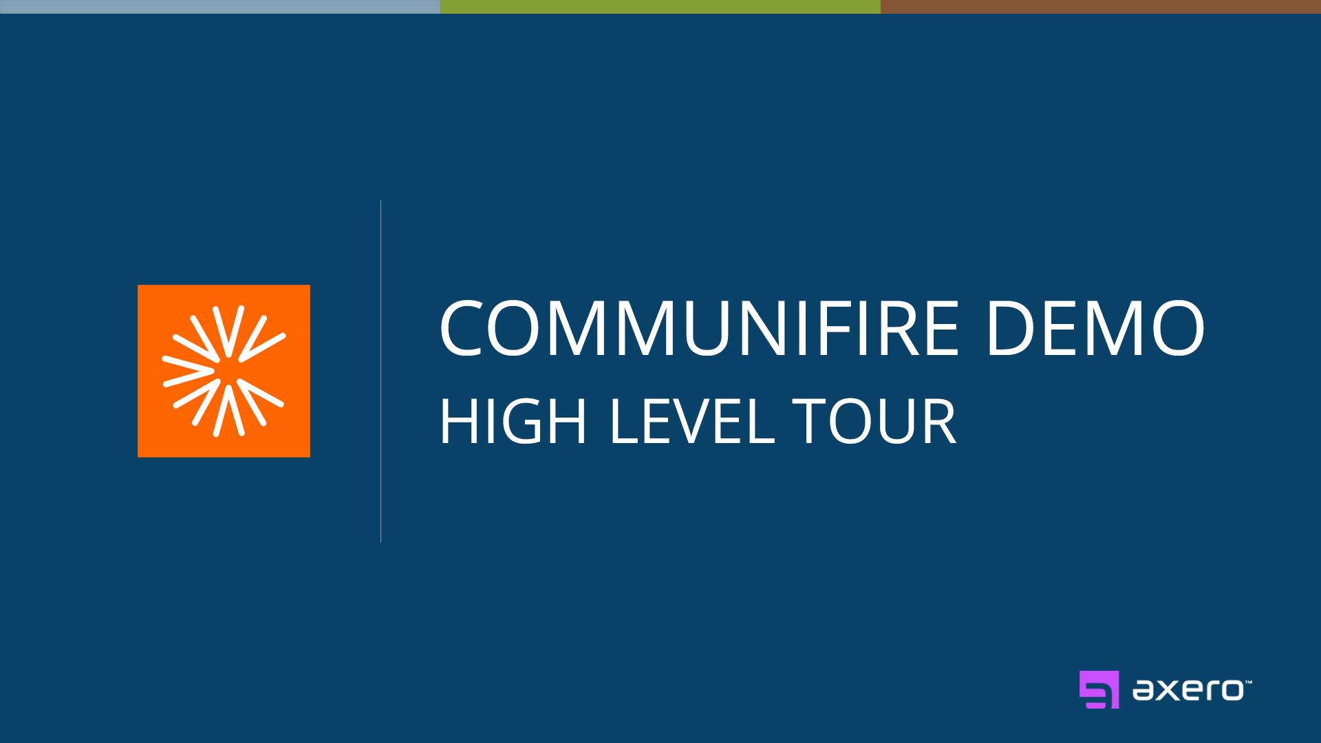 Communifire High Level Overview.