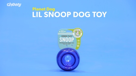Planet Dog Orbee-Tuff Lil Snoop Interactive Treat Puzzle Dog Toy Royal Blue