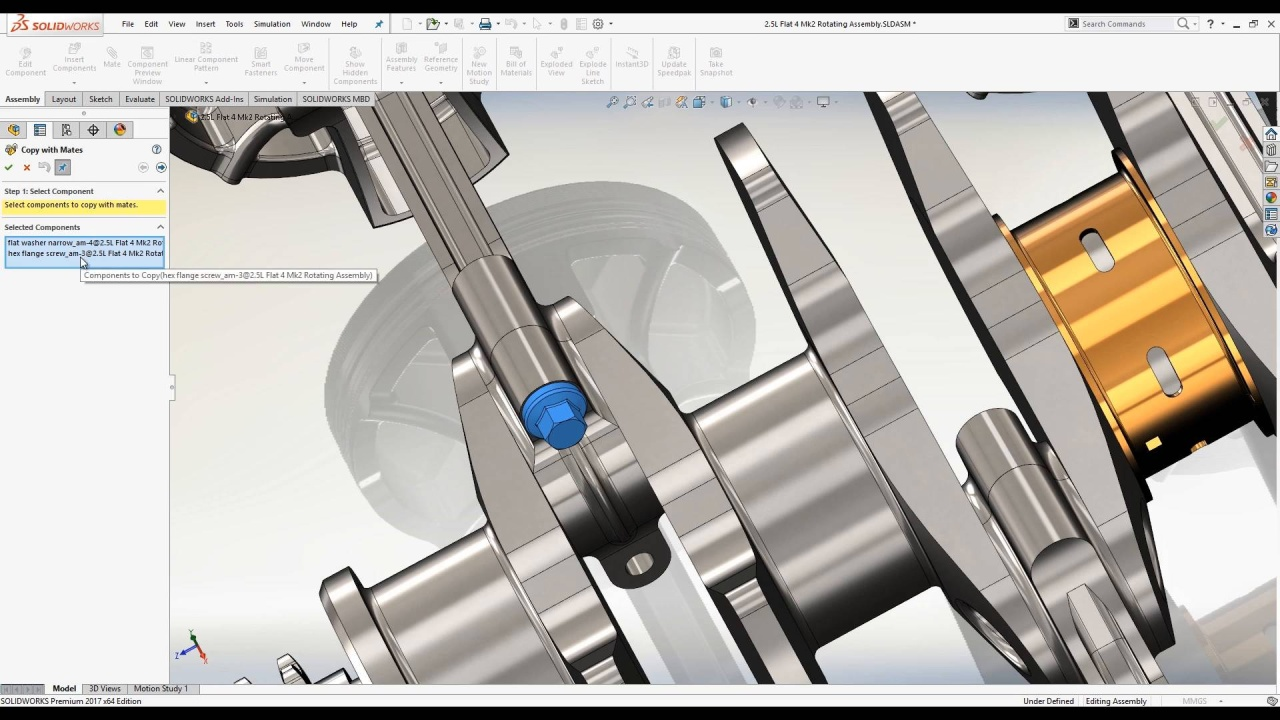 [VTT] SOLIDWORKS Parts and Assemblies Part 3 - Copy with Mates