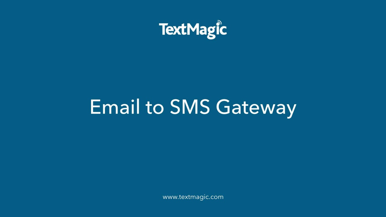 Email to SMS Landing page