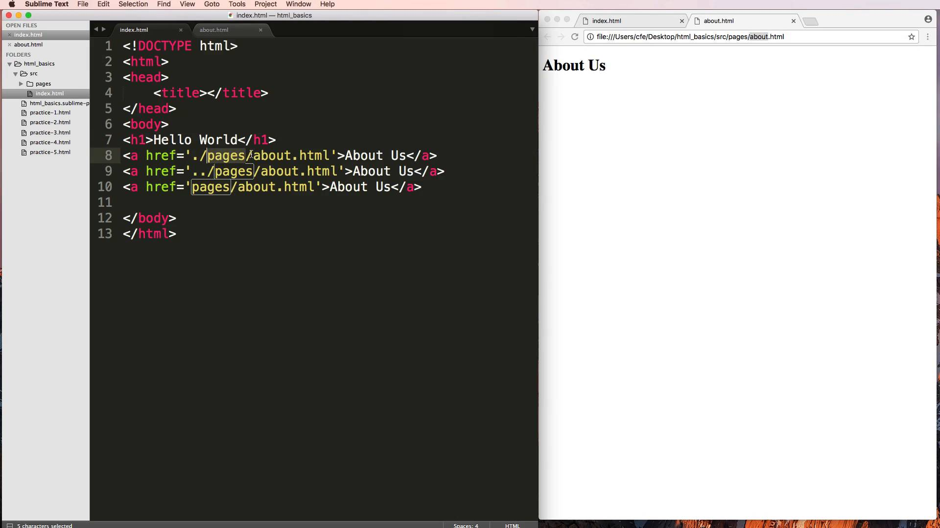 Creating the Webpage | Getting Started with HTML & CSS | Coding For ...