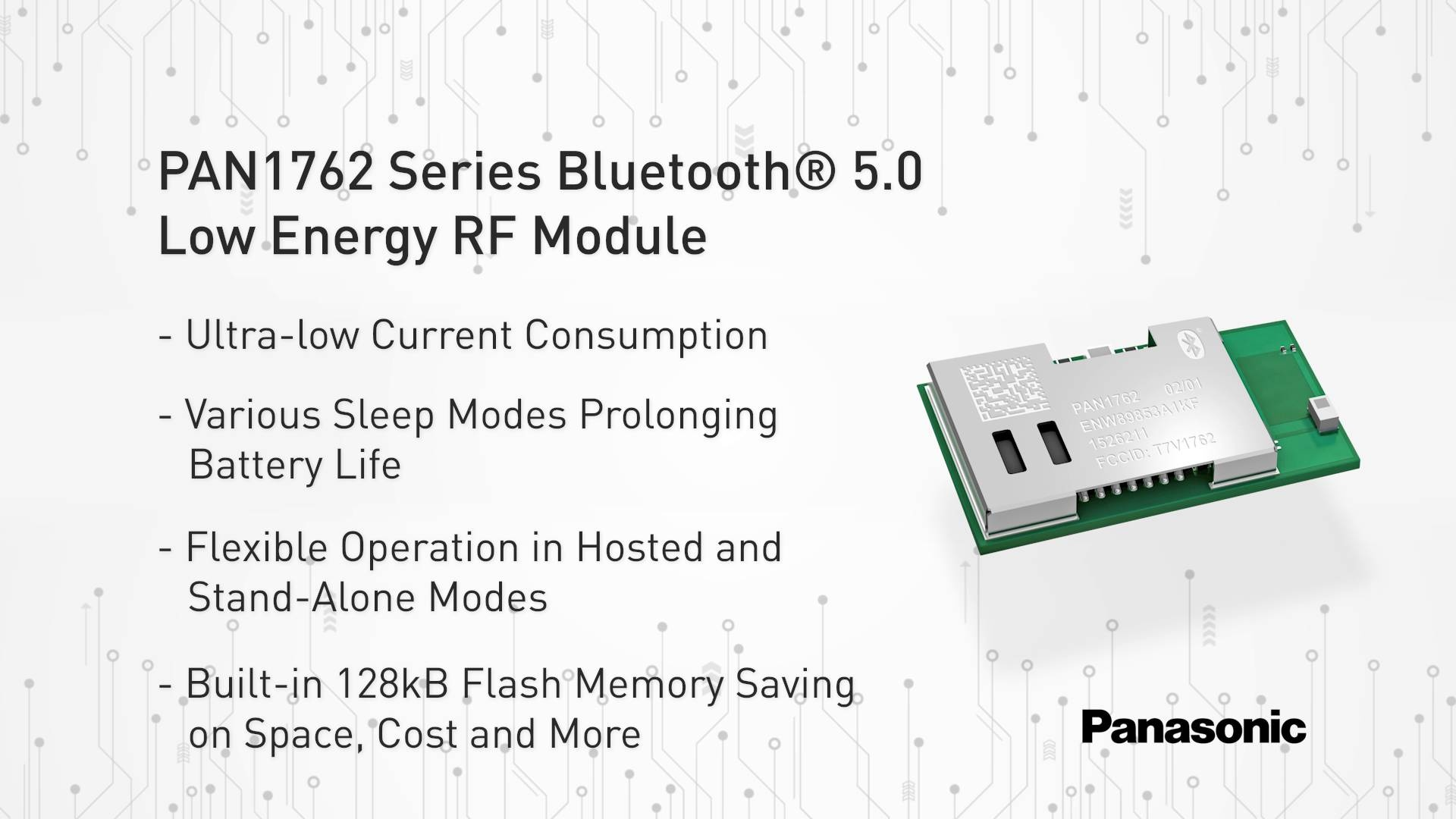 Pan1762 Series Bluetooth 50 Low Energy Rf Module Panasonic Dc Voltage Wiring In Furthermore Solid State Relay Circuit Video Thumbnail