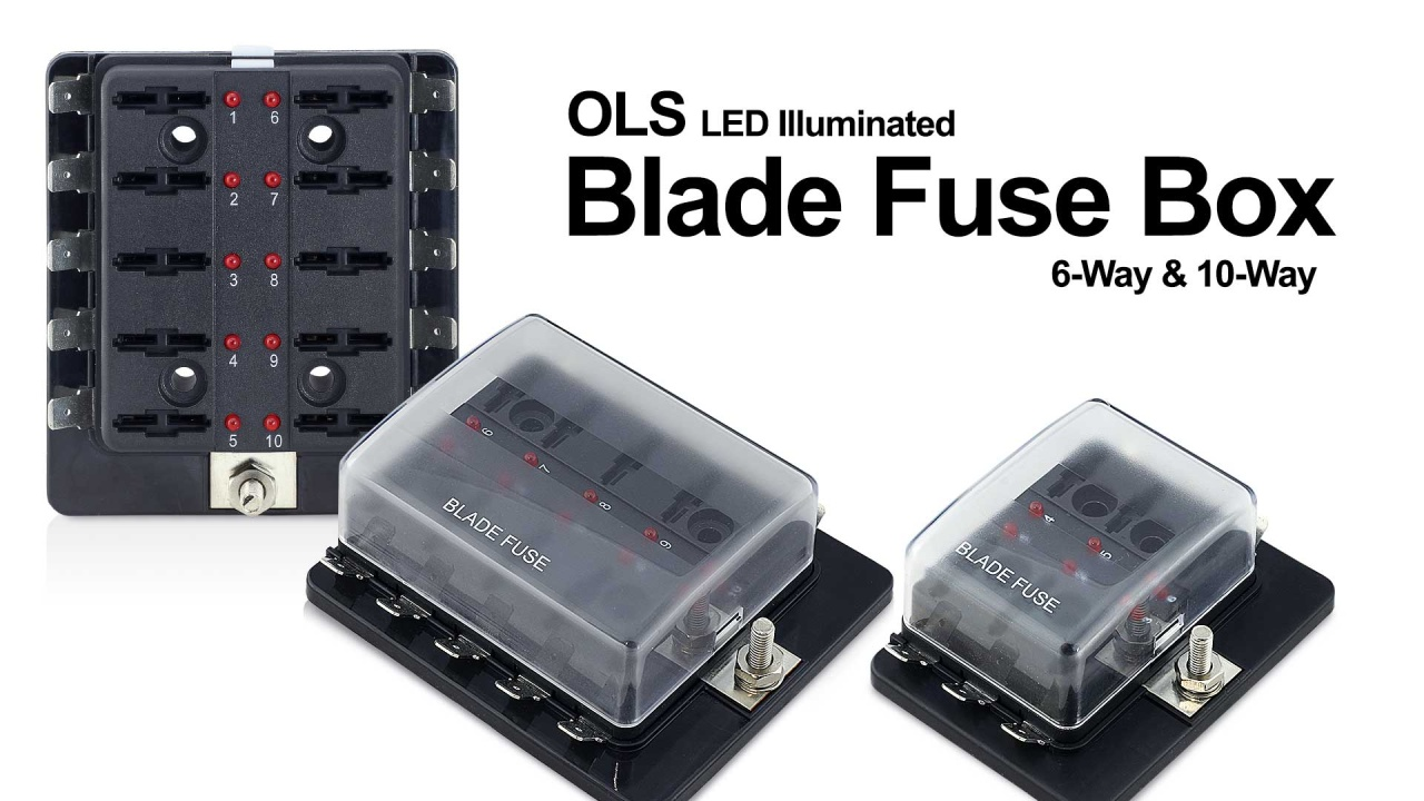 Blade Fuse Box Panel Led Light 100 Amp Extended Media Gallery