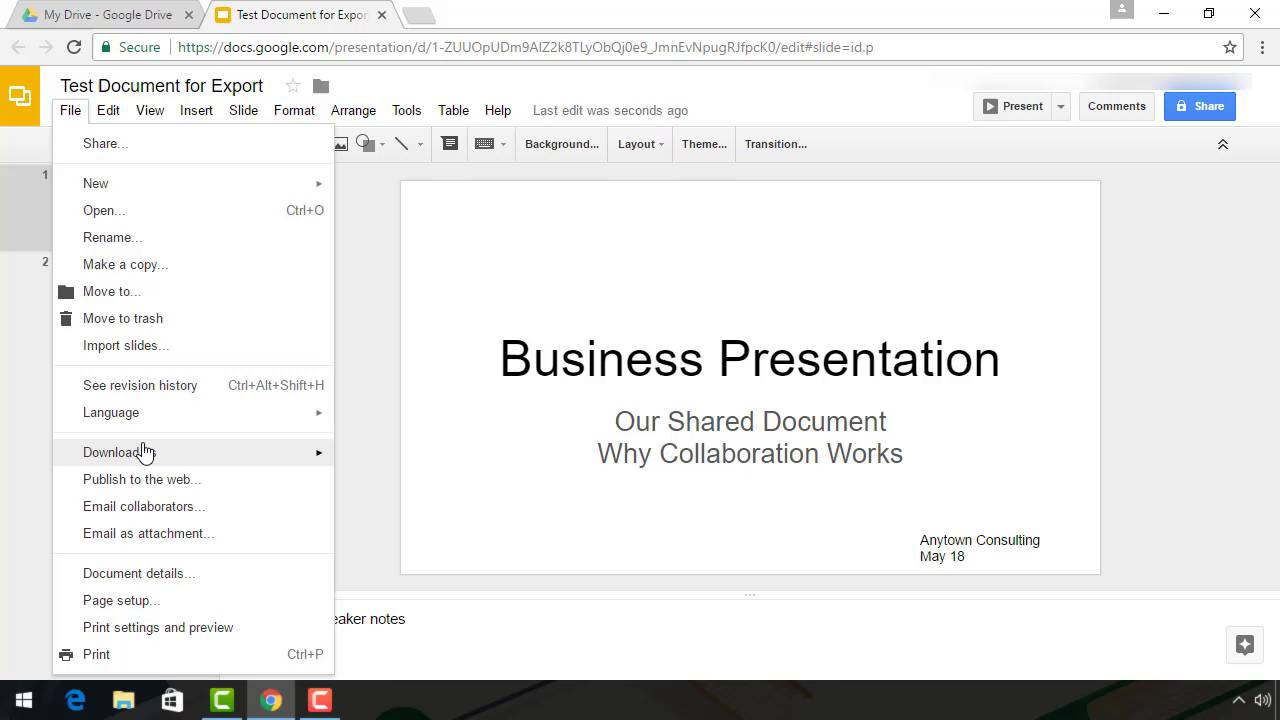 How to Convert Google Slides to PowerPoint Presentations on Export
